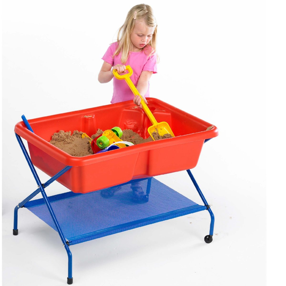 Red Rockface Sand And Water Table And Stand