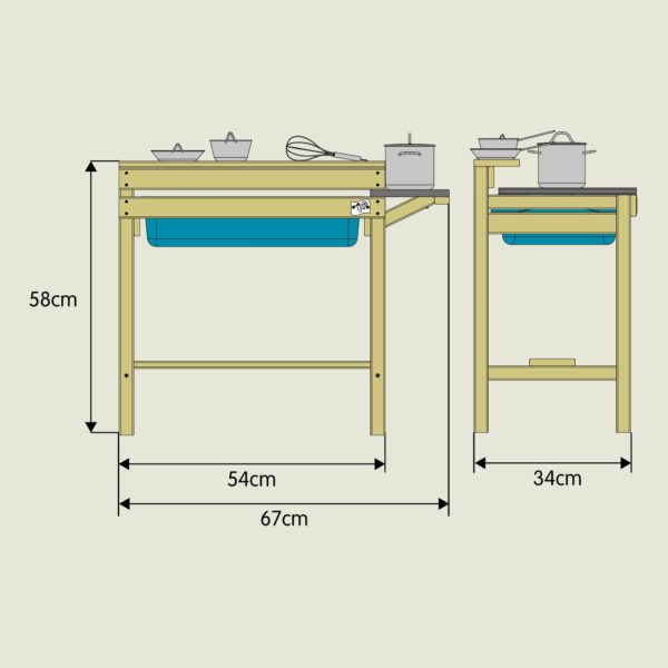 Tp Early Fun Wooden Mud Kitchen – Fsc? Certified