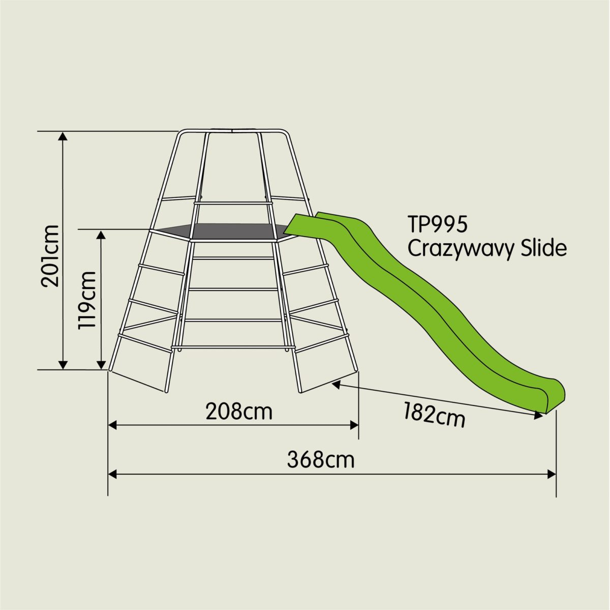 Tp Explorer Metal Climbing Frame Set & Slide