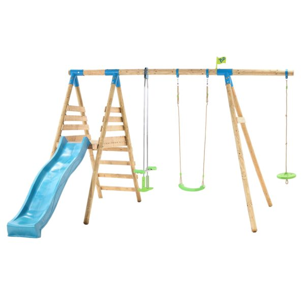 Tp Galapagos Wooden Swing Set & Slide-fsc?