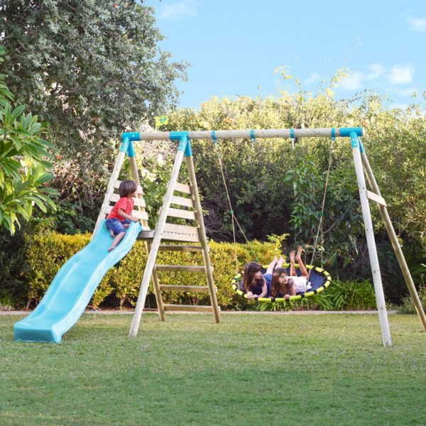 Tp Fiordland Wooden Swing Set & Slide-fsc?