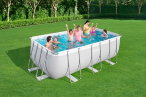 Bestway 13ft Power Steel Rectangular Swimming Pool Set