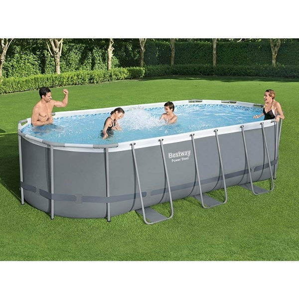 Bestway 18ft Power Steel Oval Swimming Pool Above Ground
