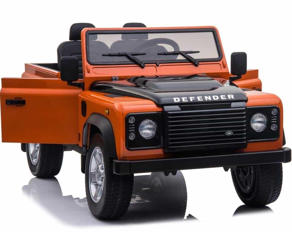 Licensed 24v Land Rover Defender 90 4wd Ride Jeep – Orange