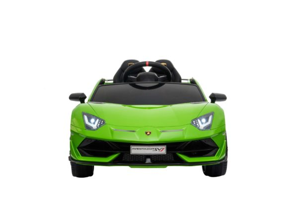 Licensed 12v Kids Green Lamborghini Aventador Svj 12v Ride On Sports Car