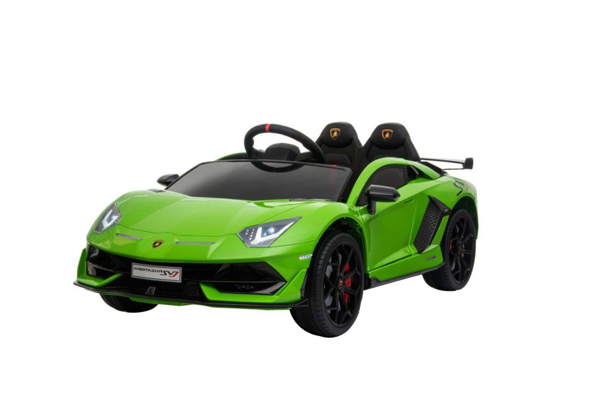 Licensed 12v Kids Green Lamborghini Aventador Svj 12v Ride On Sports Car