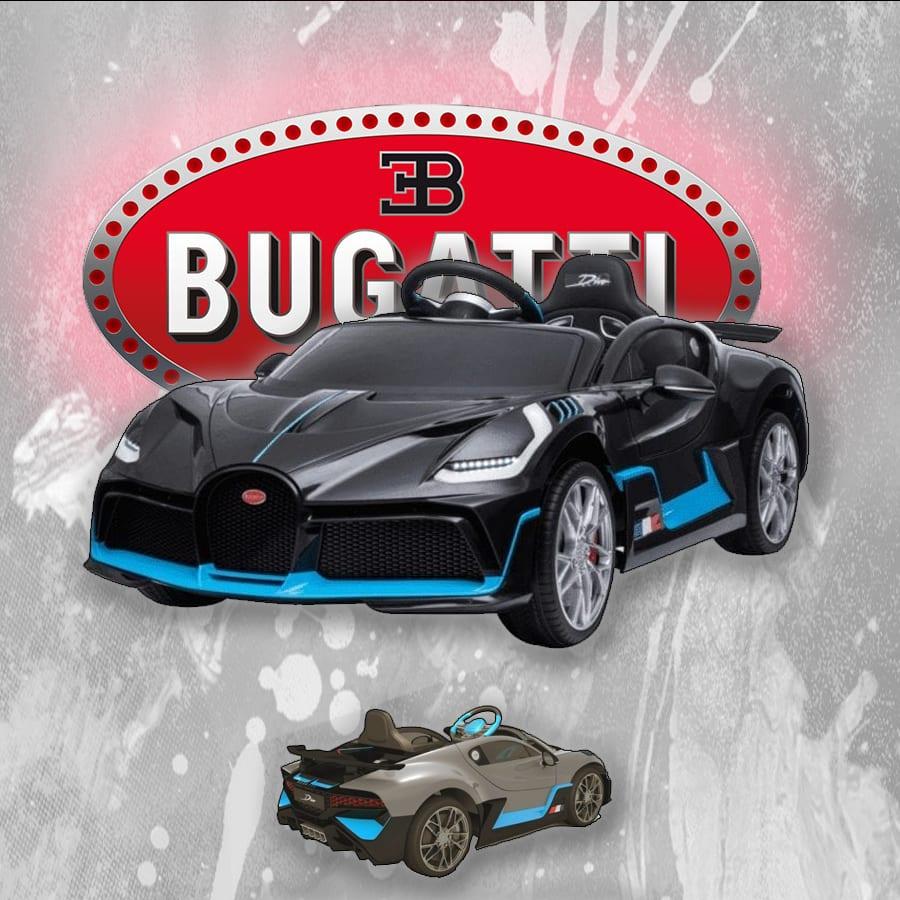Kids Ride On Car Electric 12v Bugatti Divo -black