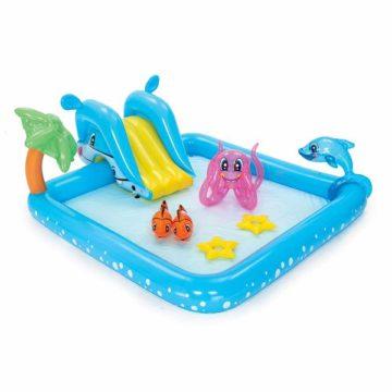 Bestway Inflatable Kiddie Pool With Aquarium Theme