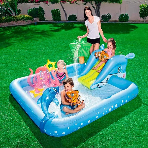 Bestway Inflatable Kiddie Pool With Aquarium Theme