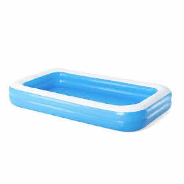 Bestway Rectangular Inflatable Family Pool Blue 120 Inch