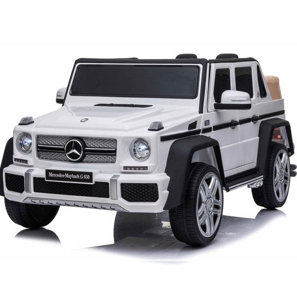 Licensed 12v Mercedes G650 Kids Electric Car – White