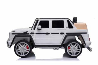 Licensed Mercedes Maybach G650 12v Children?s Ride On Jeep – White