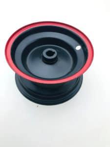 6″ Mini Quad Bike Rear Wheel Rim With Tubeless Tyre 4.10-6 – Red
