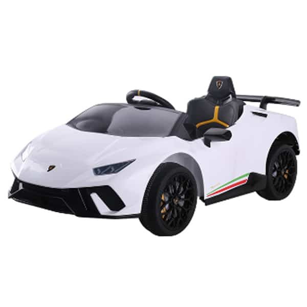 12v Lamborghini Huracan 4wd Licensed Kids Electric Ride On Car – White