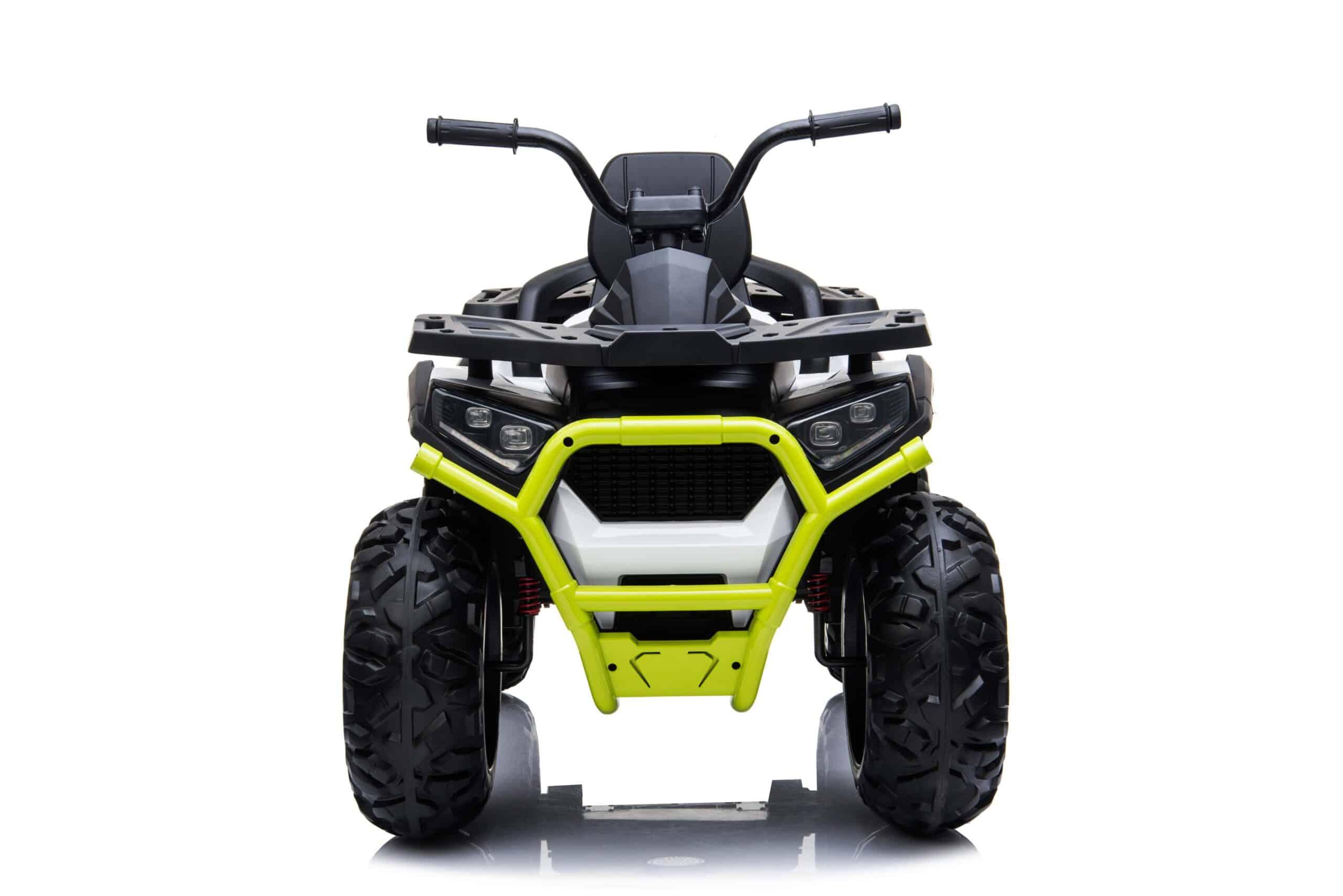 Kids Ride On Quad Bike 24v 4wd Bluetooth And Radio – White