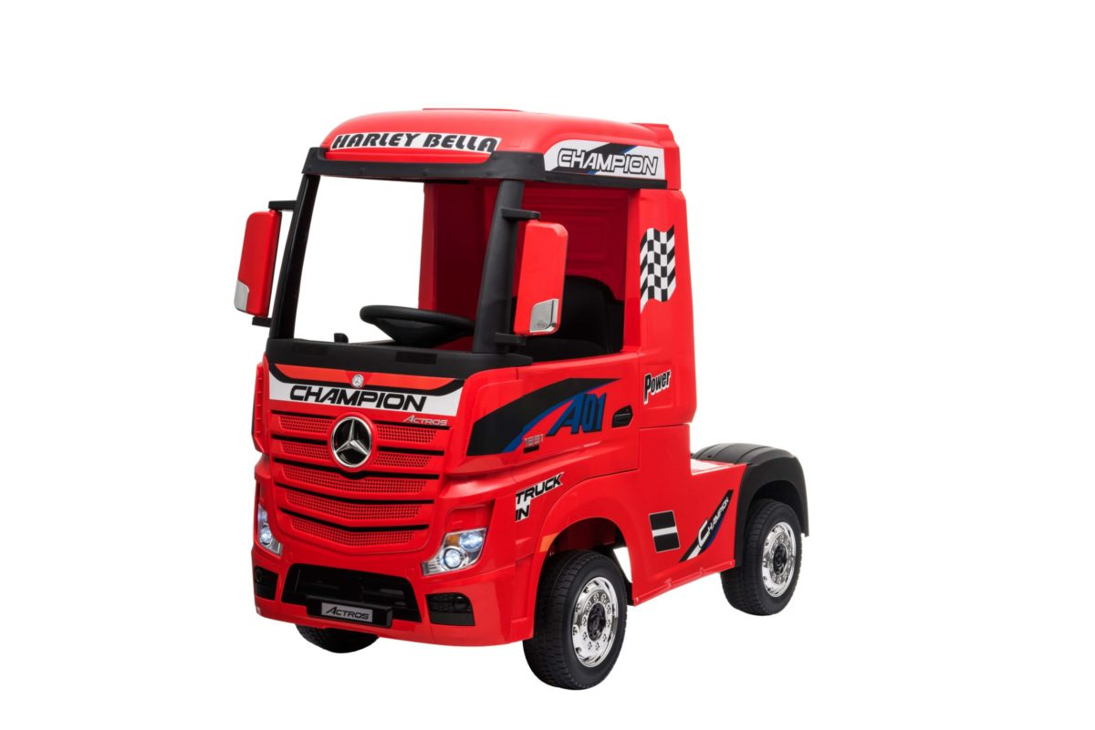 Licensed Mercedes-benz Actros 4wd 24v* Ride On Lorry – Red