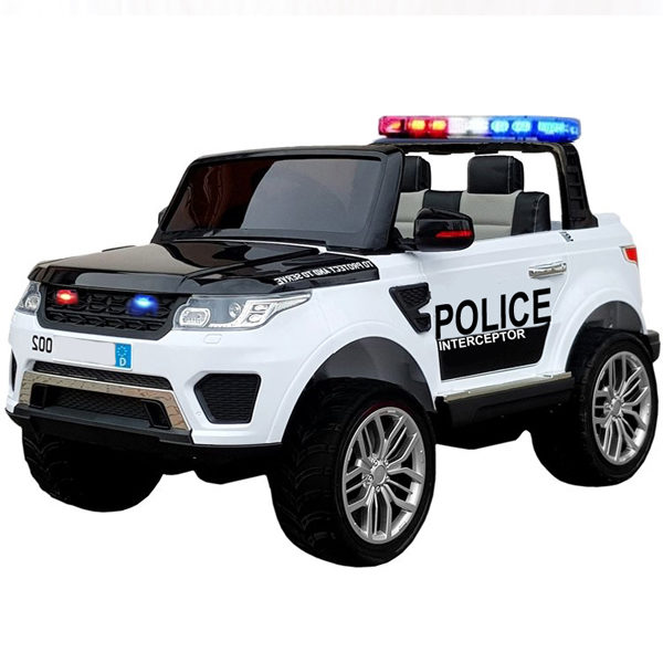 12v Land Rover Discovery Style Police Car – White