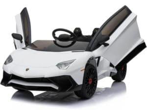 12v Lamborghini Huracan 4wd Licensed Kids lamborghini Car – White
