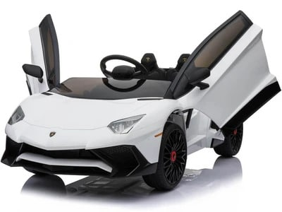 12v Lamborghini Huracán 4wd Licensed Kids Electric Ride On Car – White