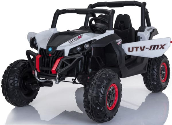 Utv-mx 24v* Twin Seat Kids 4wd Buggy – Eva Wheels – White