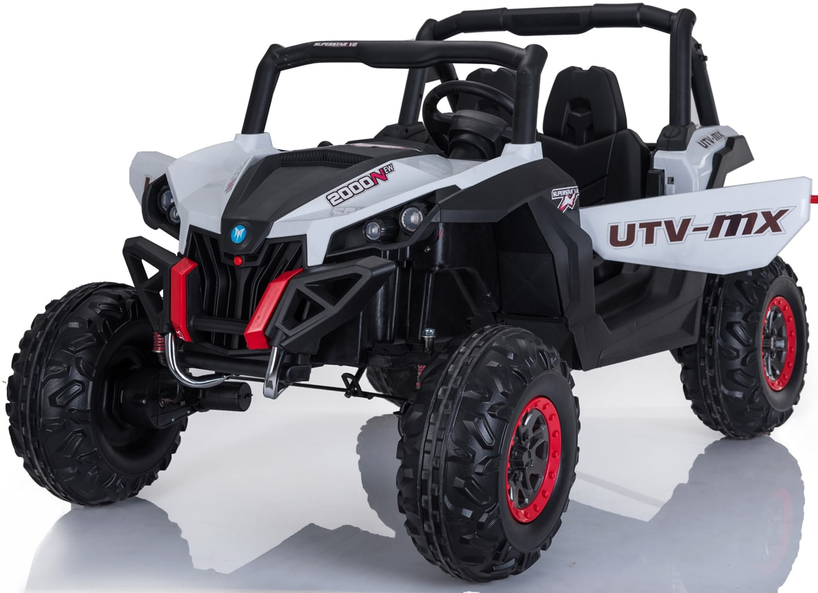 Utv-mx 24v* Twin Seat Kids 4wd Buggy – Eva Wheels – White