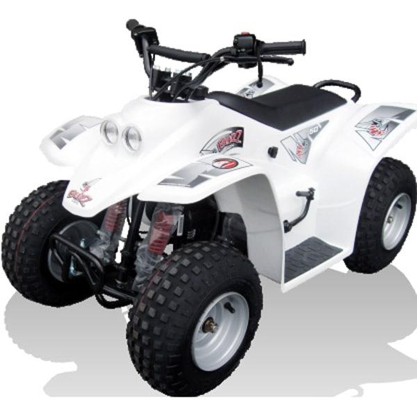 Quadzilla Buzz 50cc Kids Quad Bike White