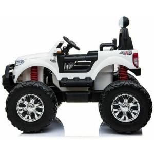 24V Ford Ranger Ride On Kids Monster Truck 4wd Eva Wheels – White