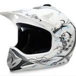 Kids Motocross Mx Open Face Helmet White