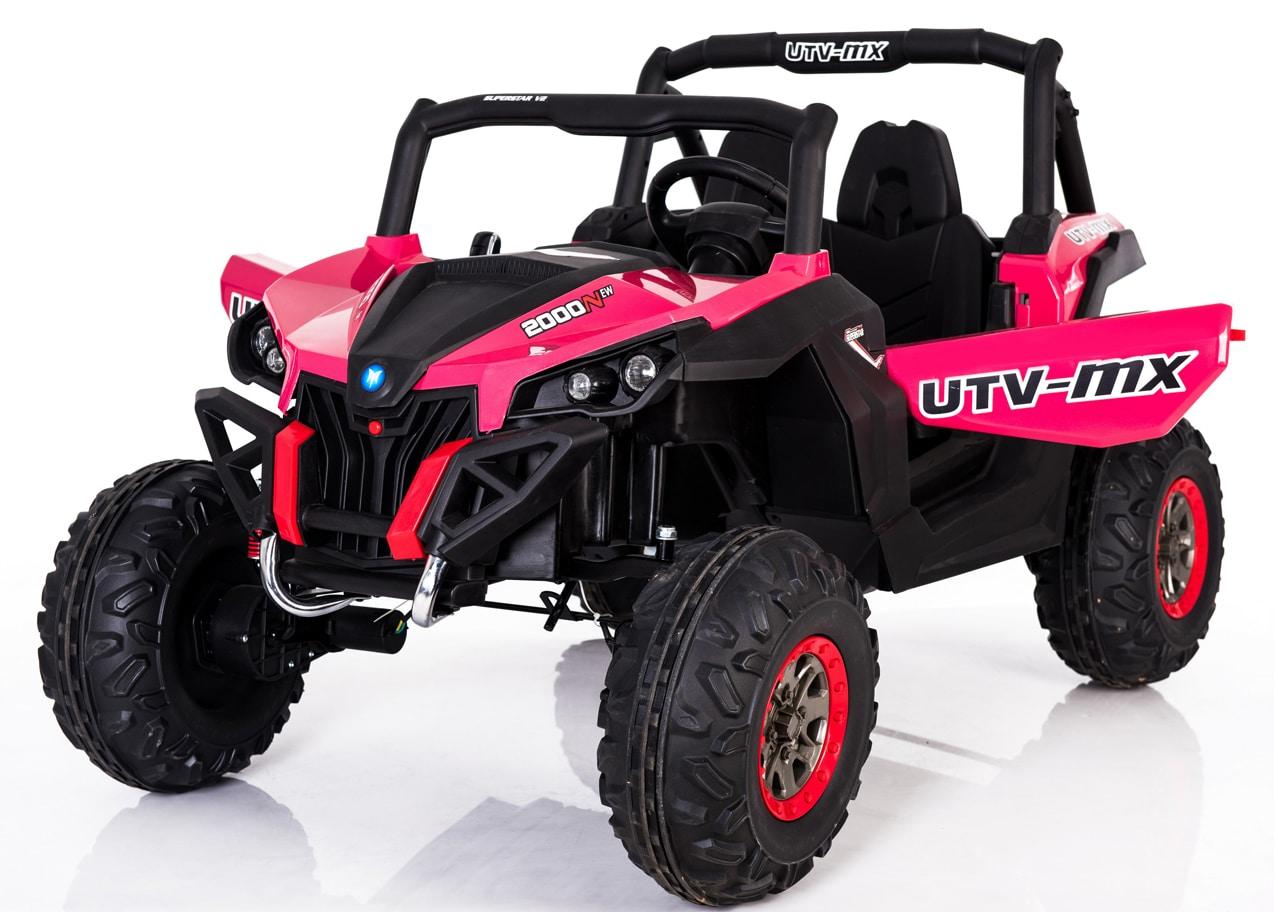 Utv-mx 24v* Twin Seat Kids 4wd Buggy – Eva Wheels – Pink