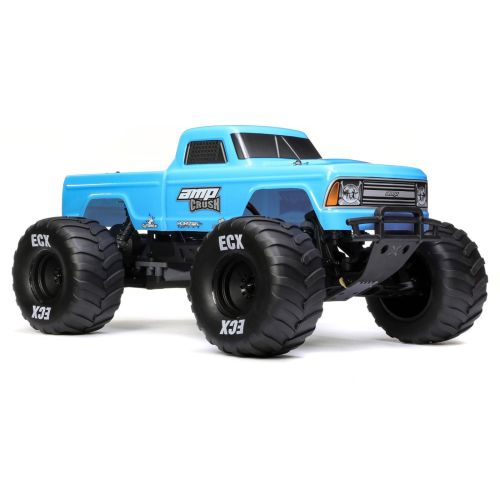 1/10 Amp Crush 2wd Monster Truck Brushed Rtr International, Blue (ecx03048it1)