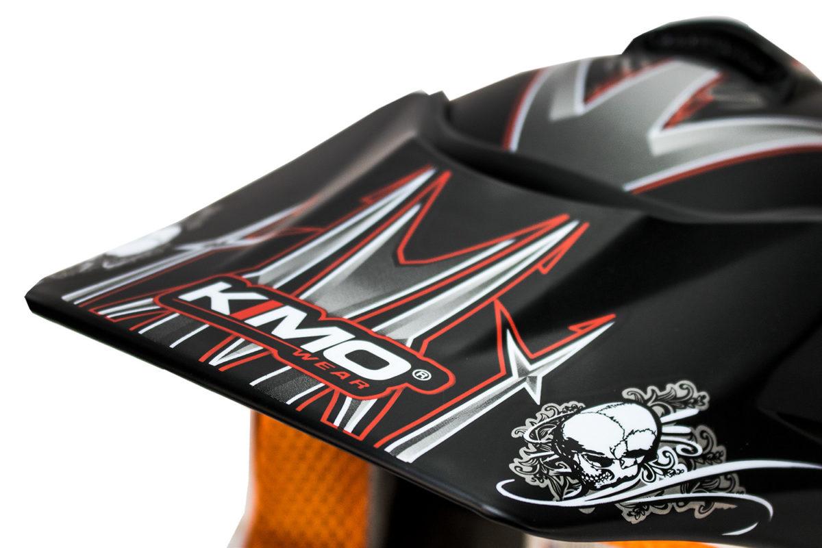 Kids Motocross Mx Open Face Helmet – Black