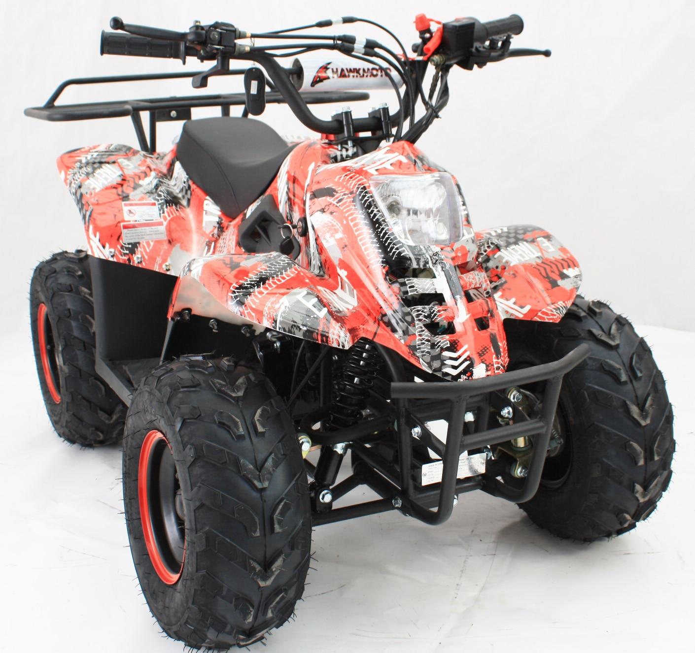 Hawkmoto Boulder 110cc Kids Quad – Extreme Red