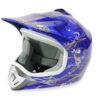 Kids Motocross Mx Open Face Helmet Blue