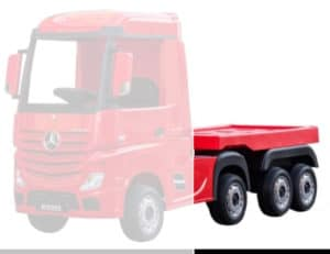Mercedes Actros 24v* Electric Kids Truck With Trailer -black