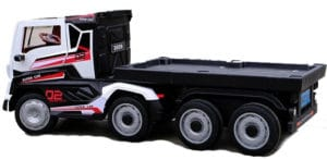Electric Children's Lorry True 24v Scania Style With Truck Trailer Toy – White