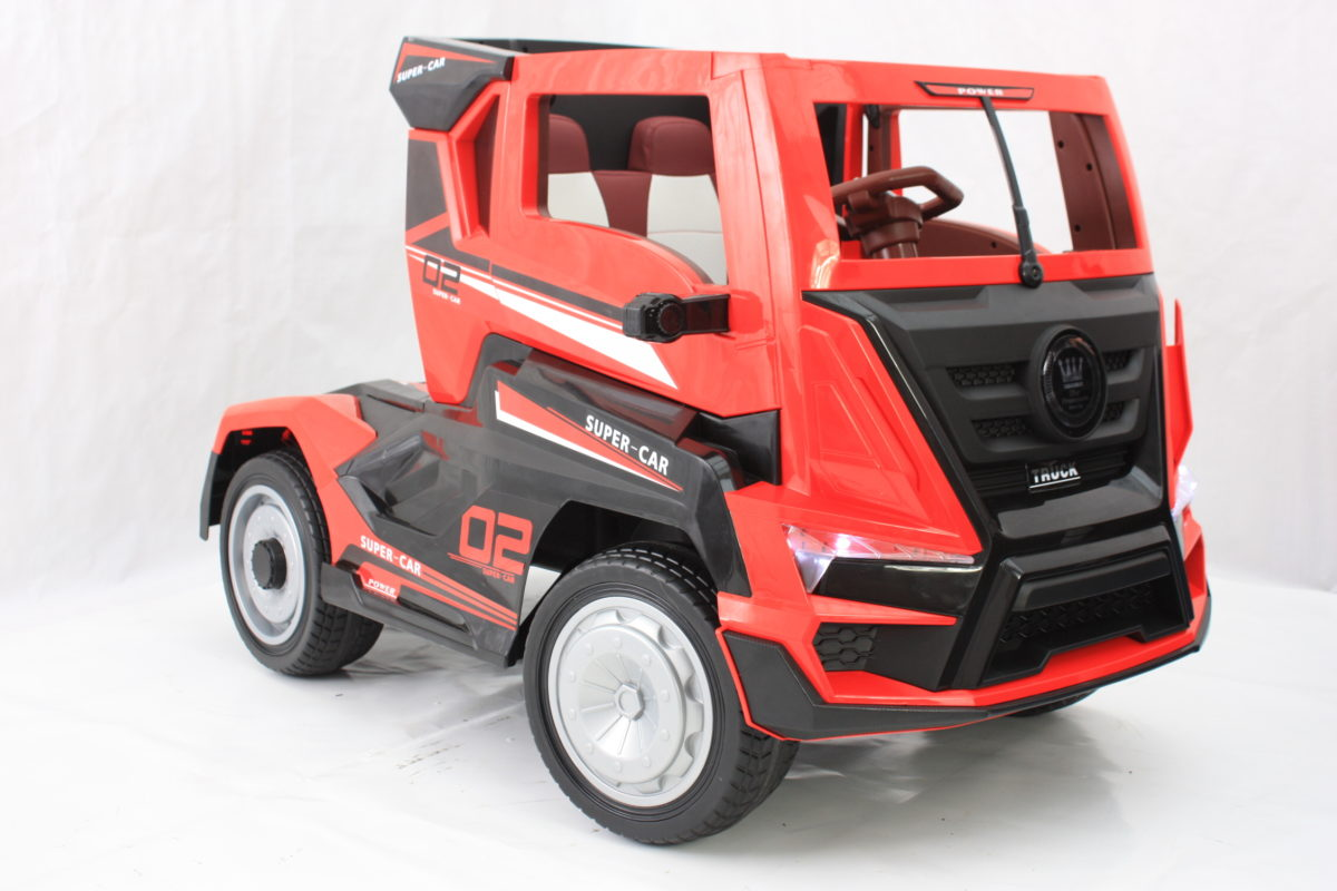 Electric Kids Lorry True 24v With Truck Trailer – Red