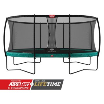 Berg Grand Champion Trampoline 520 Green With Safety Net Deluxe