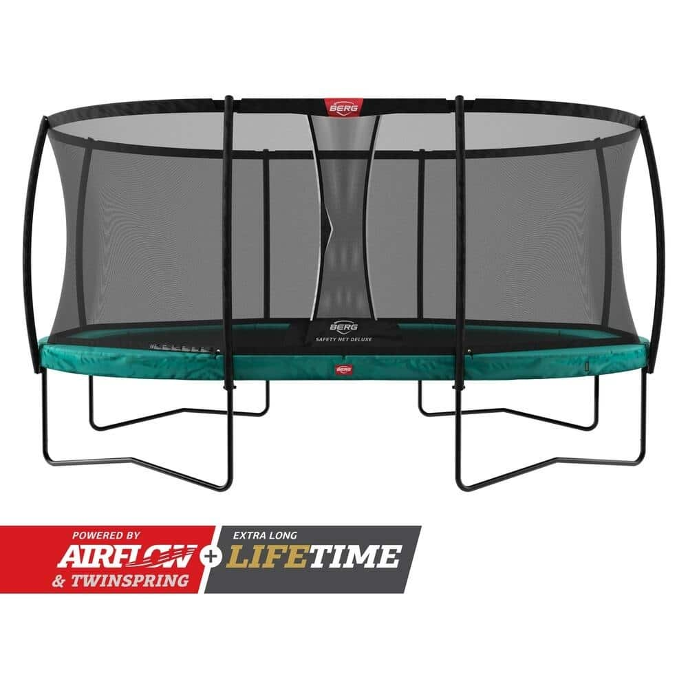 Berg Grand Champion Trampoline 470 Grey With Safety Net Deluxe