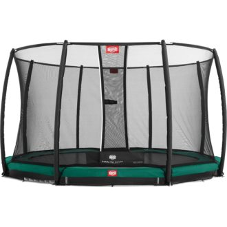 Berg Champion Inground Trampoline 330 Green with Net Deluxe