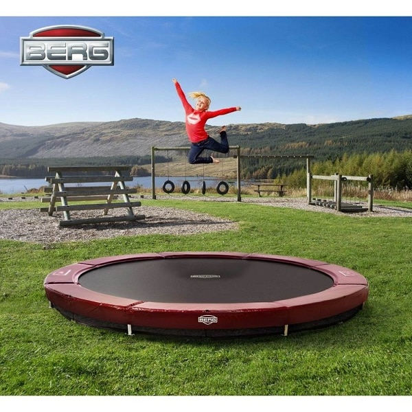 Berg Inground Elite Trampoline 380 Red