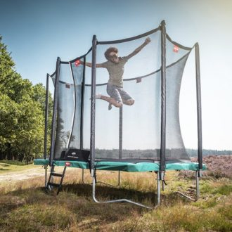 Berg Ultim Favorit 280 Green Trampoline with Comfort Net