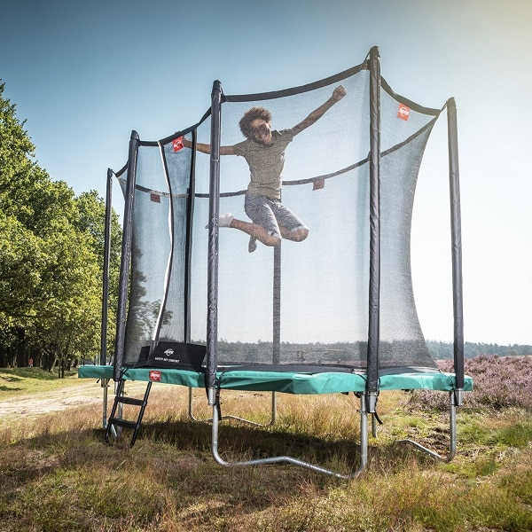 Berg Ultim Favorit 280 Green Trampoline with Comfort Net