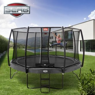 Berg Elite 330 Grey Trampoline with Deluxe Net