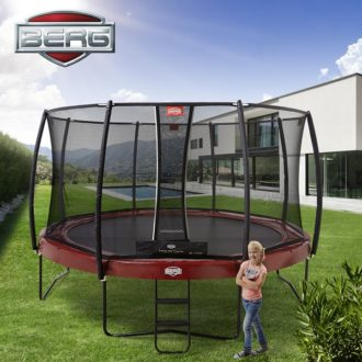 Berg Elite Trampoline 430 Red with Deluxe Net