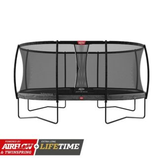 Berg Grand Champion Trampoline 520 Grey With Safety Net Deluxe