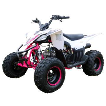 Quadzilla Spider 110cc Kids Quad Bike White Pink