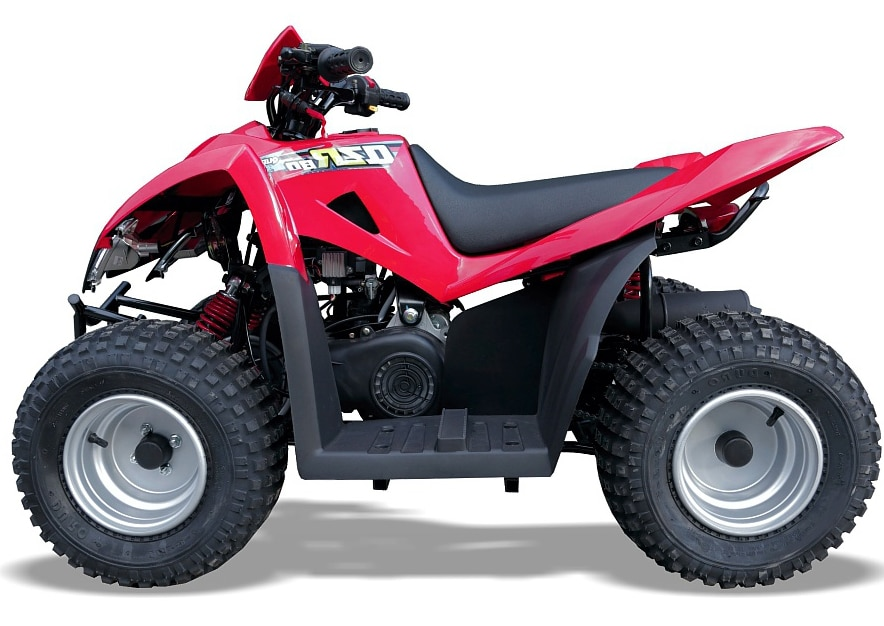 Quadzilla Qzr80 80cc 2 Stroke Kids Quad  Red  2 Year Warranty