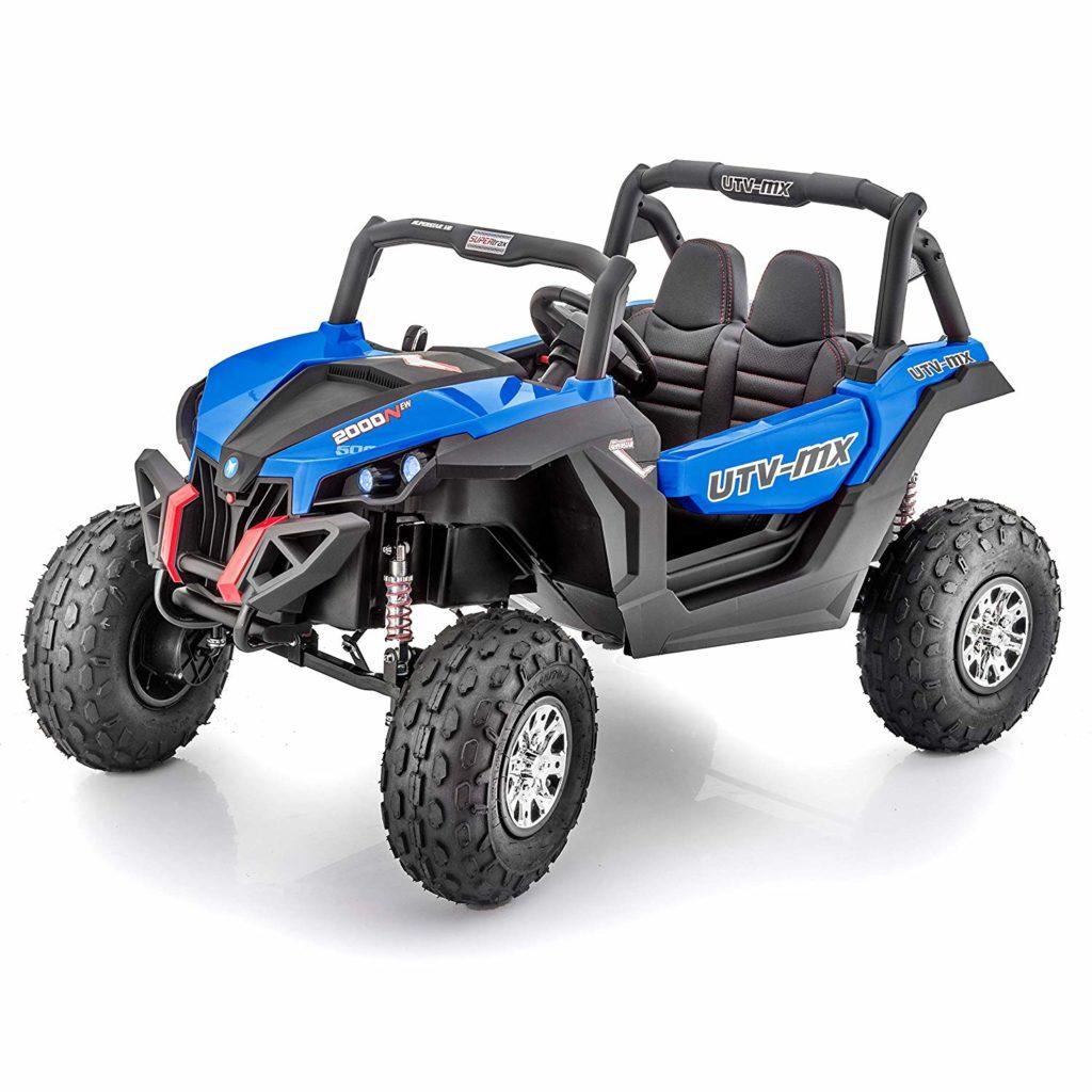 Kids Ride On 24v Utv-mx 4wd Off Road Buggy 4 Motors- Blue