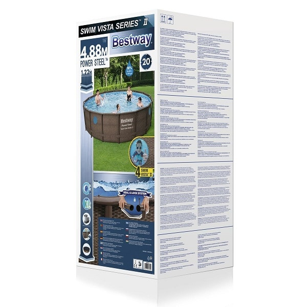 Bestway 16ft Power Steel Vista Swimming Pool