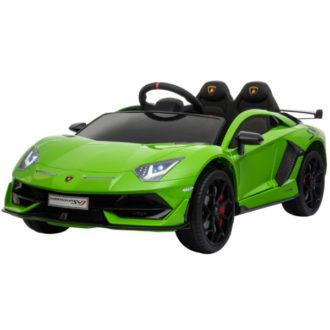 12V Kids Lamborghini Aventador Green Svj